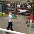 testing a paper aeroplane