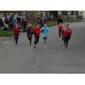 Girls from Y3 race towards the finish line!