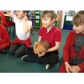 It was fun to hold them and feel their feathers!