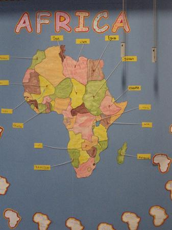 Map of Africa - Year 3