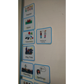 We use a visual timetable to structure our day.