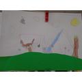 Squirrel's art work