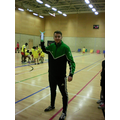 Mr Clarke does the javelin