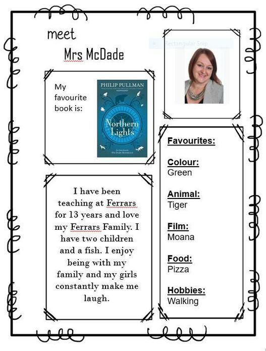 Mrs McDade - Deputy Head/Inlcusion Manager