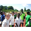 The Year 6 relay team get ready for action
