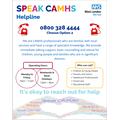 Speak CAMHS helpline