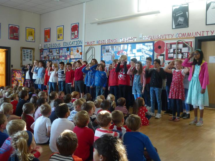 Year 5 singing: Alouette