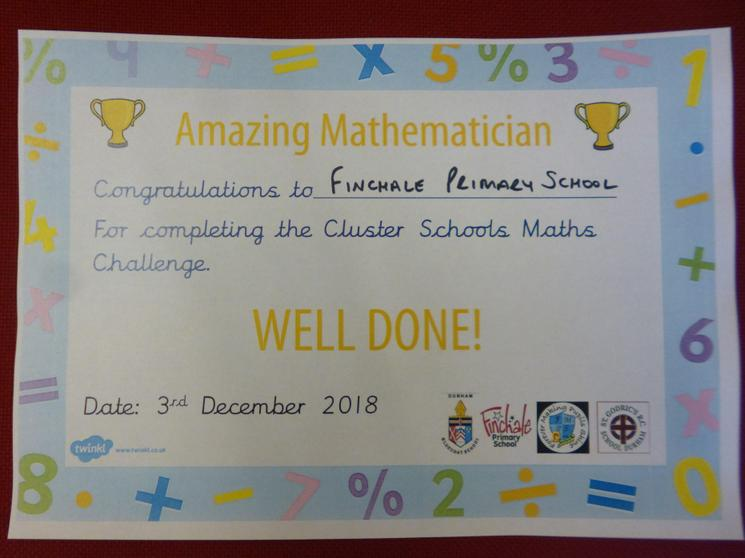 Well done for completing the Maths Challenge!