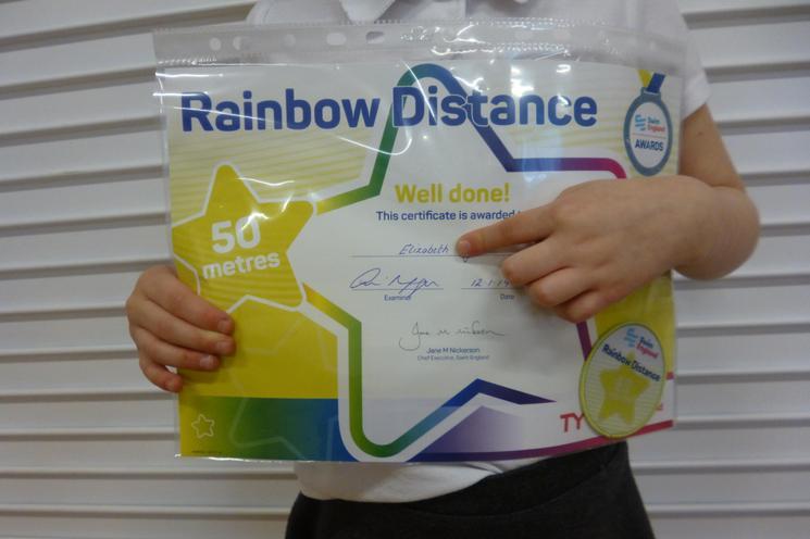 50m Swimming Badge & Certificate