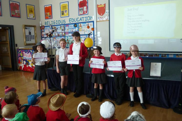 Certificates of Achievement for our pupils
