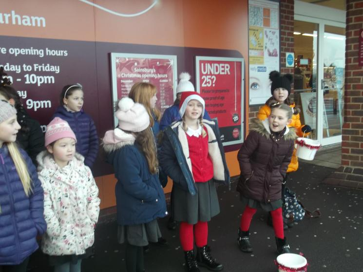 Singing at Sainsbury's Supermarket 19/12/18