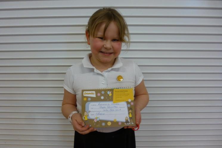Well done Rebecca Y3 - joining Brownies