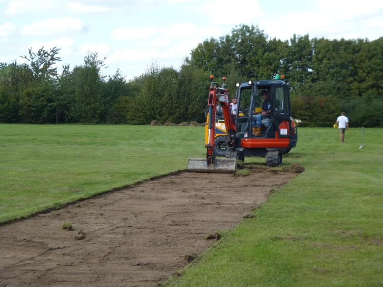 Building our fantastic Finchale Fitness Track