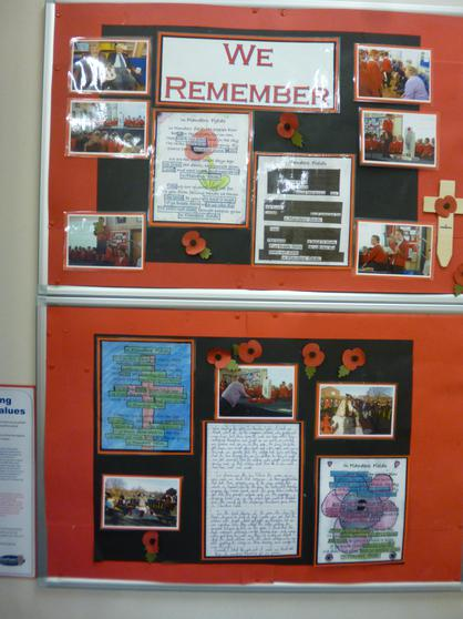 Remembrance Day Display, Poetry and Our Thoughts