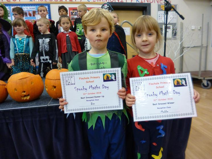Reception Class, Winner - Maddie, Runner Up - Ben