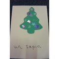 un sapin - a pine (Christmas) tree