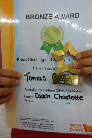 Bronze award for Climbing & Safety Technique