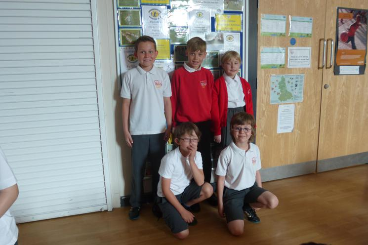 Our pupils who helped with the event on the day.