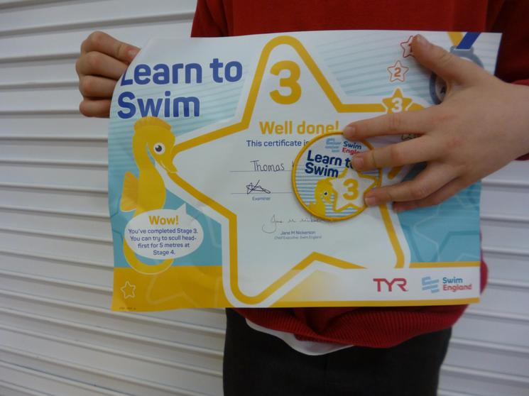 Learn to Swim Level 3 achieved!
