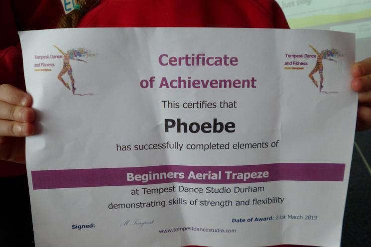 including Olivia who does have a certificate too!