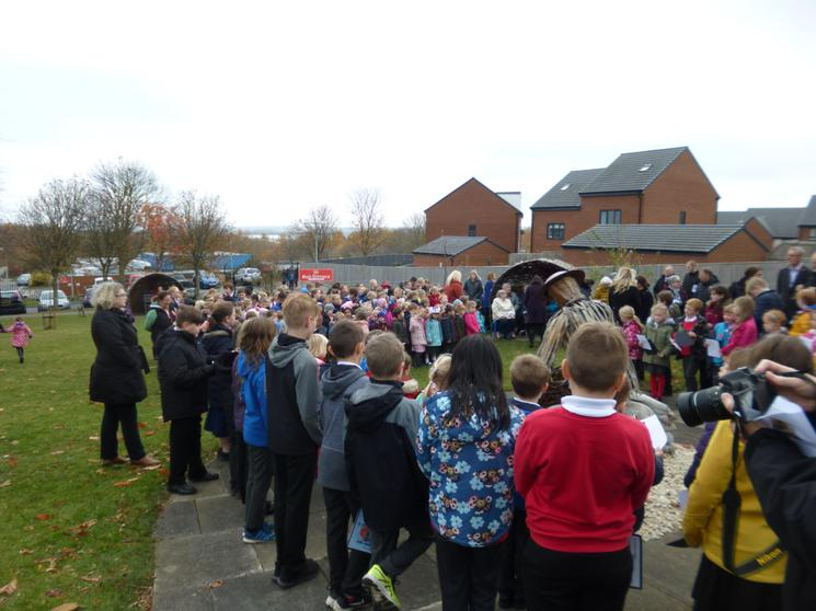 Pupils, staff, govenors, family  & guests attended