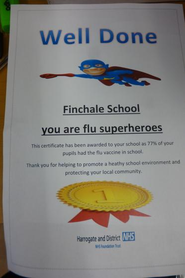 77% of our pupils had the flu vaccine in school