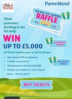 Big Summer Raffle - Good luck and thank you to all taking part. We have raised £100.50!