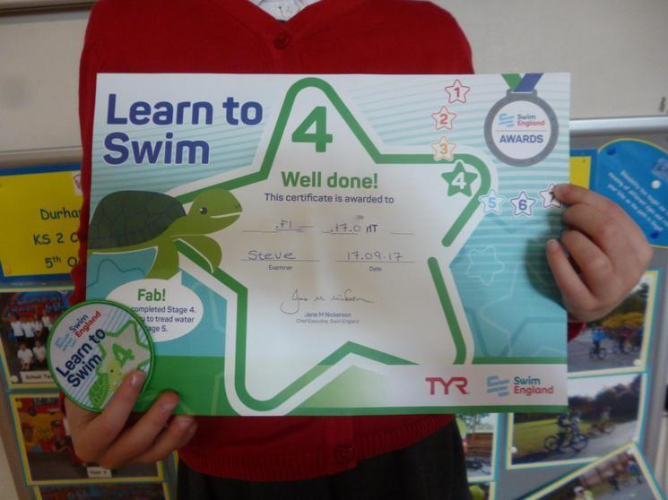 Achieved Learn To Swim Stage 4