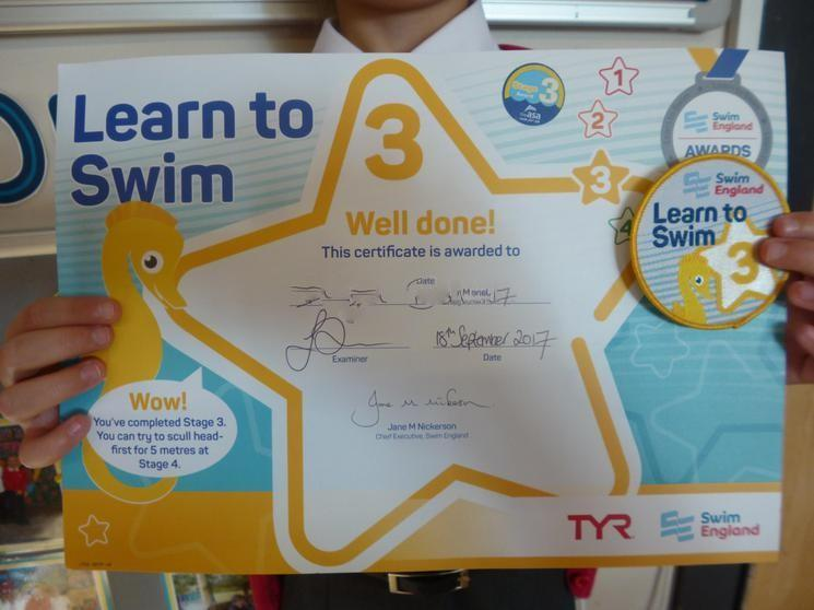 Achieved Learn to Swim - Level 3