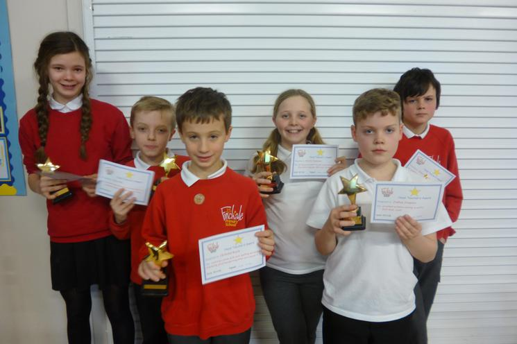 Head Teacher Award Recipients - Well Done!