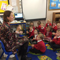 Mrs Hamill taught Reception class some greetings.