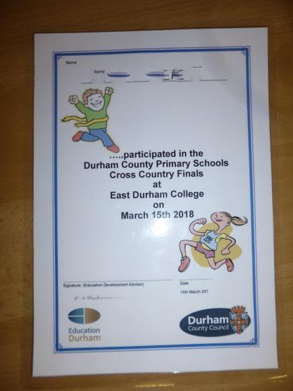 Durham County Primary Cross Country Finalist