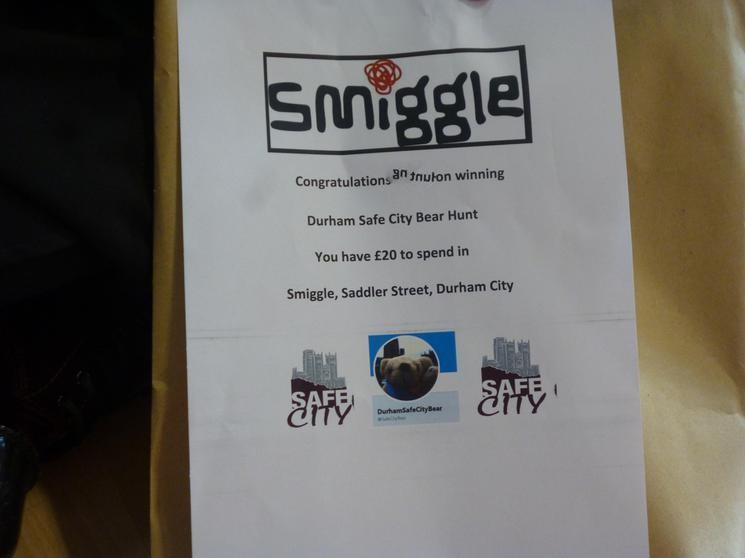 Isla won a £20 voucher for Smiggle