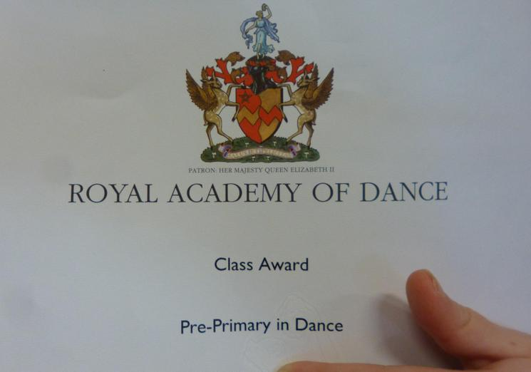Achieving their Award for Dance
