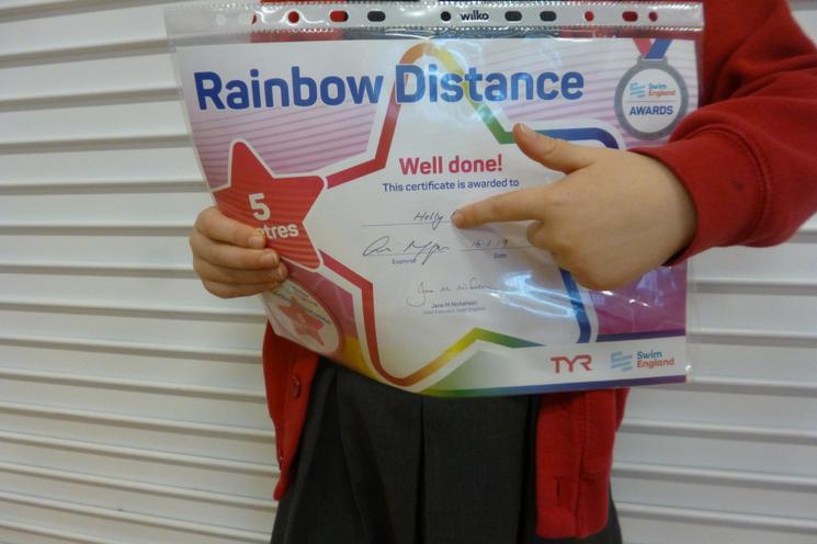 5m Swimming Badge & Certificate.