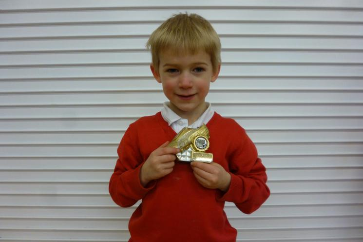 Well done Fraser in Reception Class!