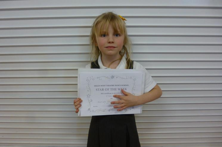 Chloe's Award - Helen West Theatre Dance School