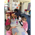Fruit tasting with our Year 5 buddies