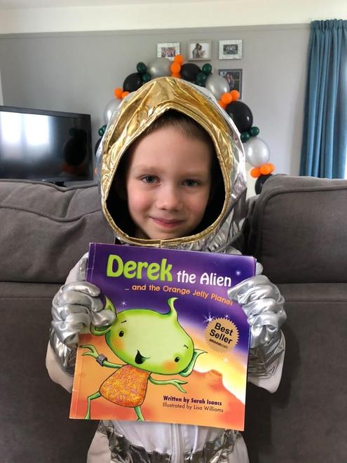 Isaac's favourite book is Derek the Alien