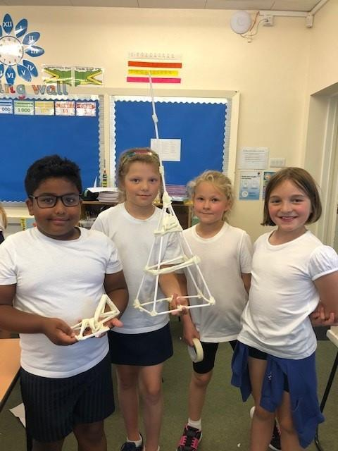 This tower was the tallest and this team also demonstrated excellent people smart skills!