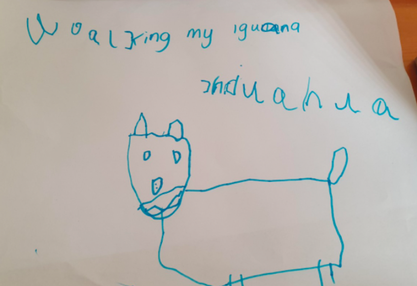 George drew the chihuahua featured in the poem