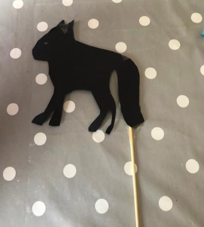 Freya's shadow puppet