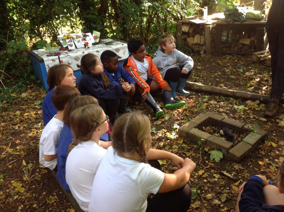 Listening to input from Fiona  about making bug hotels.