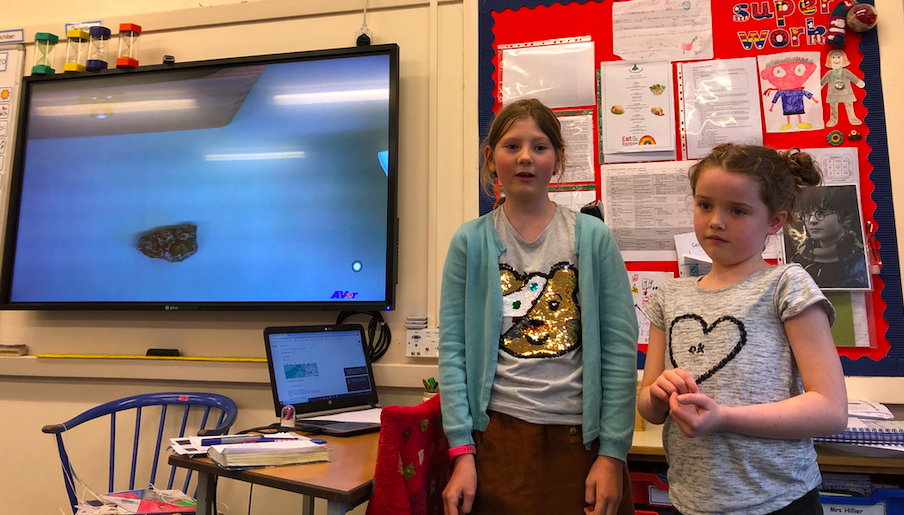 Freya and Jess tell us about the fossils and rocks they have found