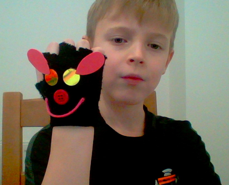 Jack's glove puppet