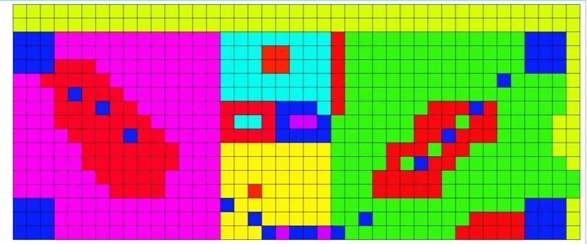 Roman mosaic flooring design using online software
