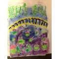 We recreated  Monet's Water Lily garden in a series of small steps.
