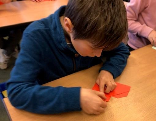 When the Japanese first folded origami, they used only one piece of paper.
