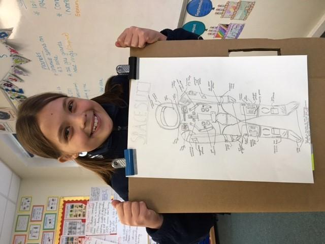 Alicia's Picture Smart diagram of a spacesuit