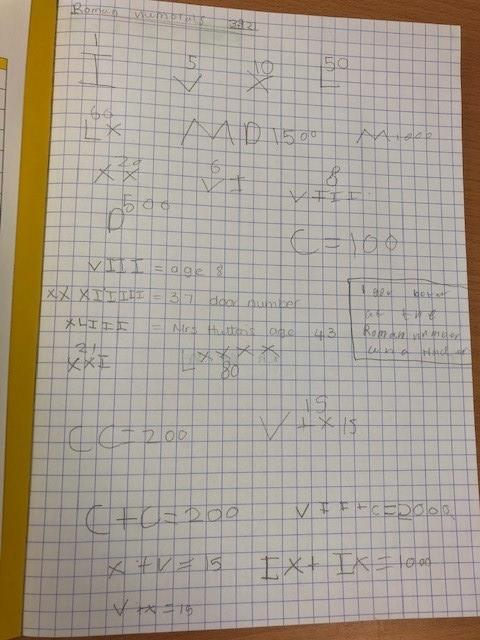 Experimenting recording important  numbers to us such an ages, house number, birthdays ...